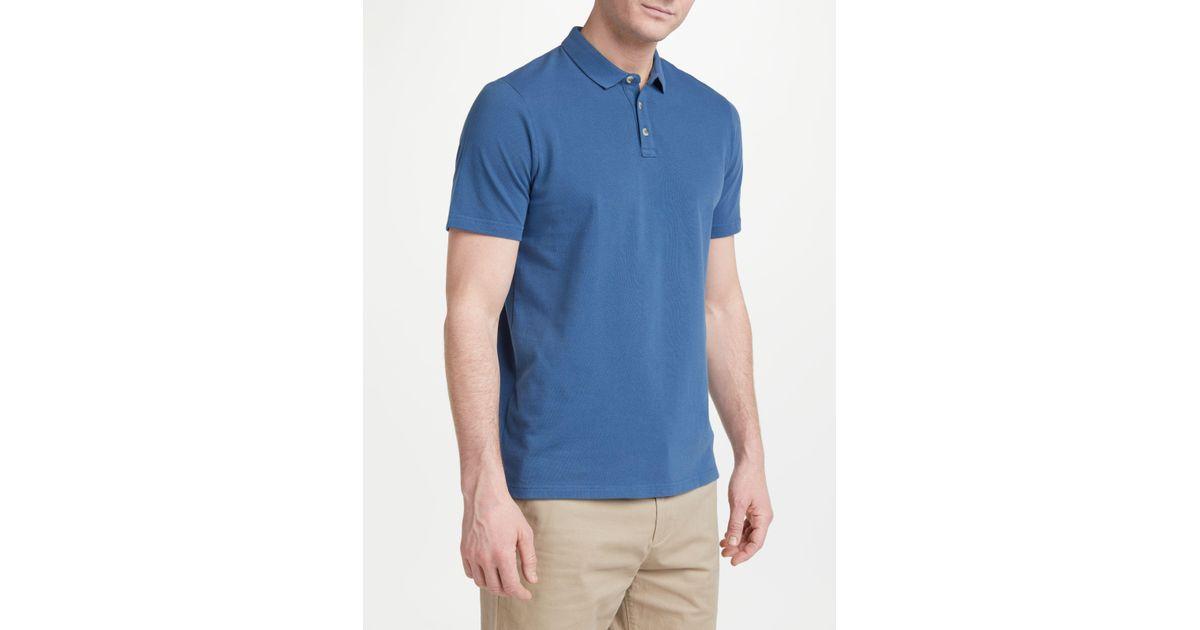 1fc4a7266b39 John Lewis Cotton Pique Polo Shirt in Blue for Men - Lyst