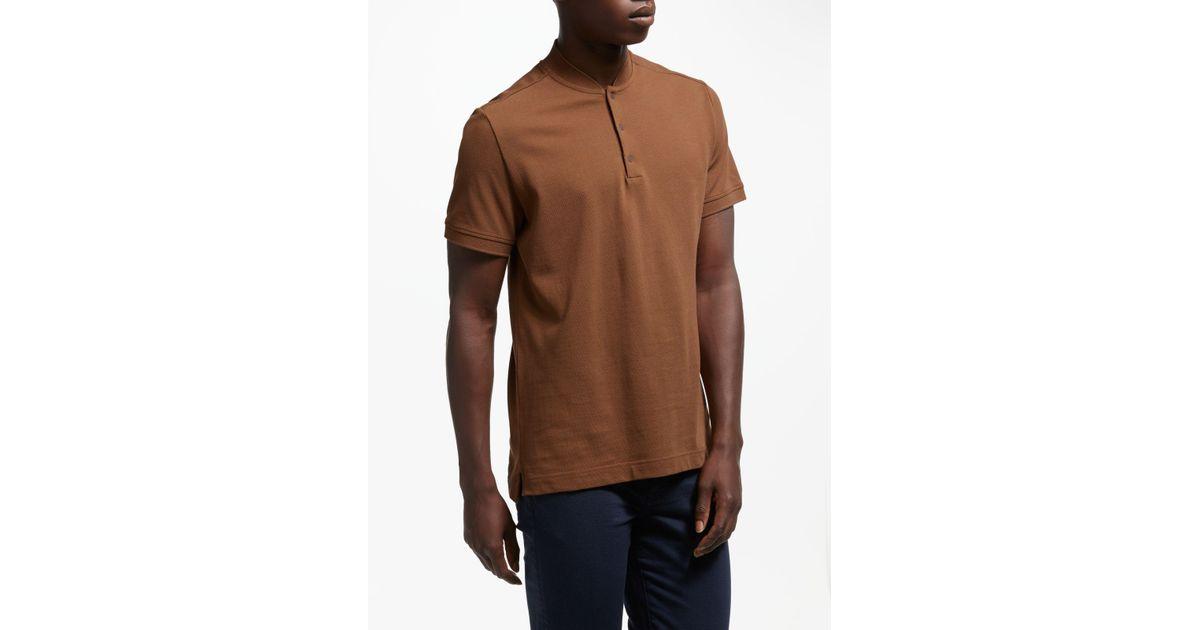 01c4e2a28 J.Lindeberg Leo Pique Polo Shirt in Brown for Men - Lyst