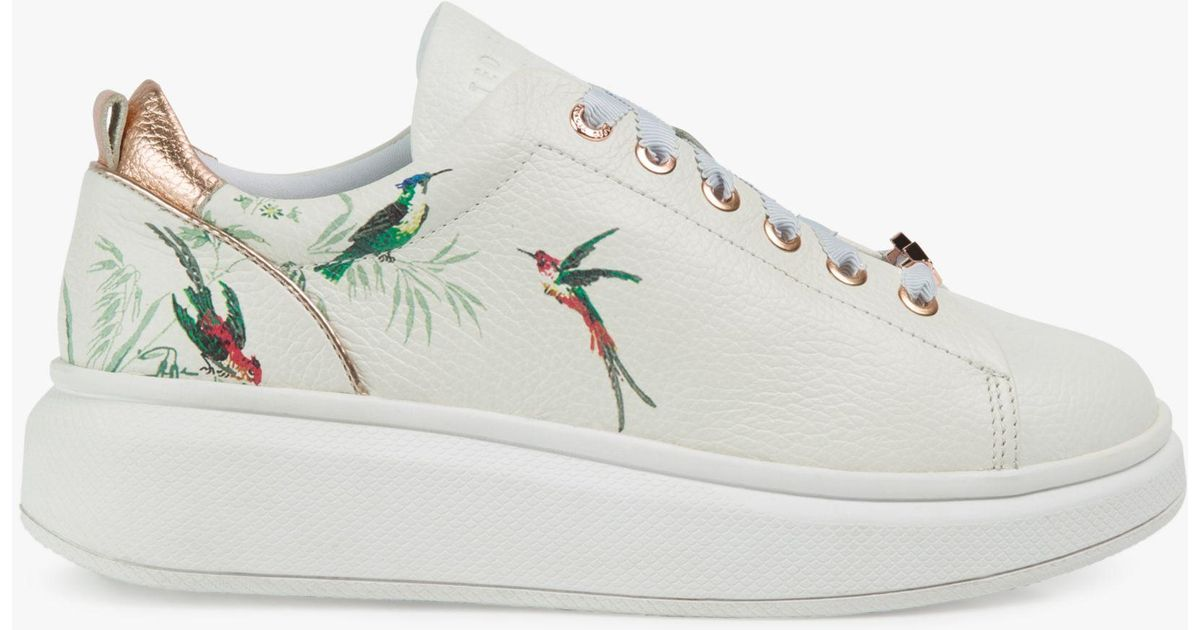 Ted Baker Women/'s Ailbe 4 Leather Lace Up platform Trainers Rose Gold RRP £129