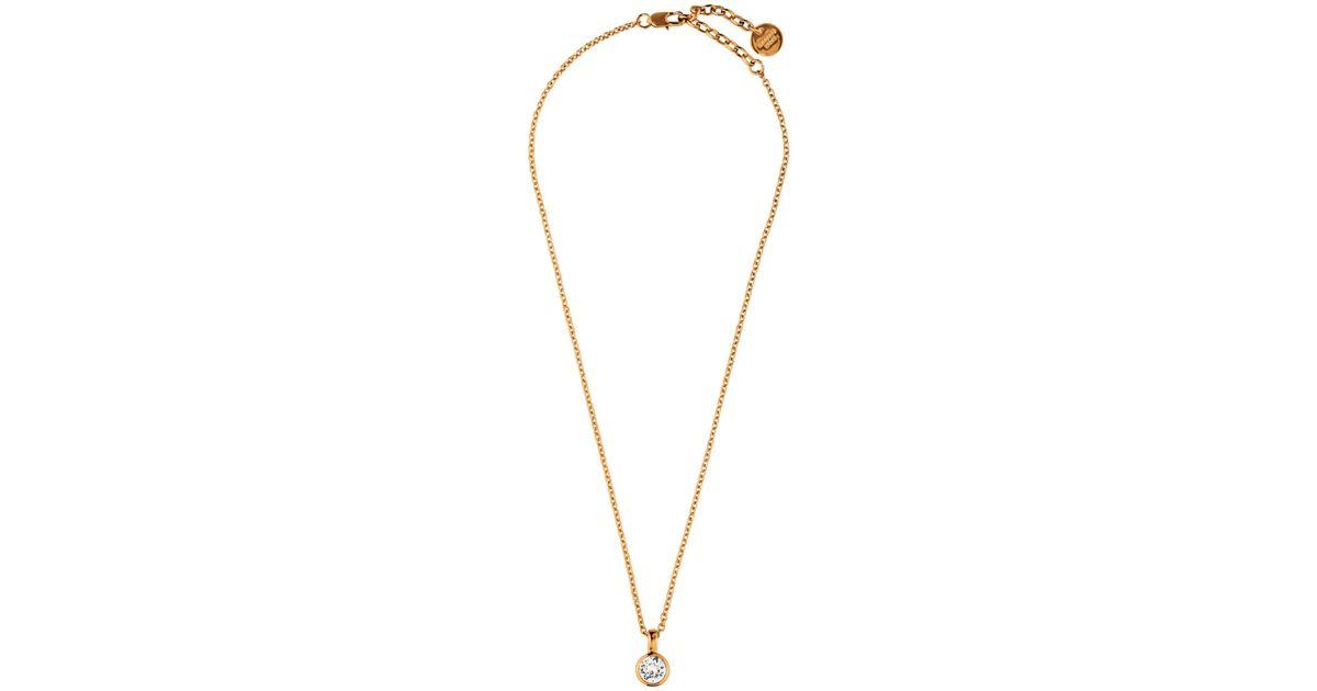 534dbb0b9238 Dyrberg Kern Ette Swarovski Crystal Pendant Necklace in Pink - Lyst