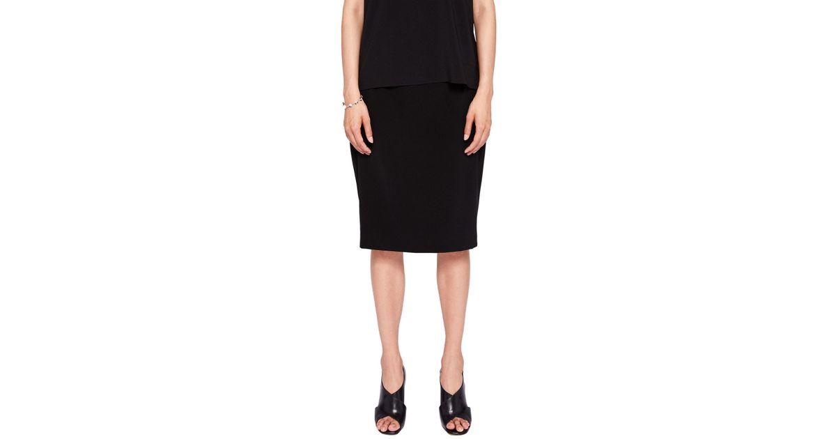 98c2dd6af18a3f Ted Baker Shilis Ottoman Contrast Pencil Skirt in Black - Lyst