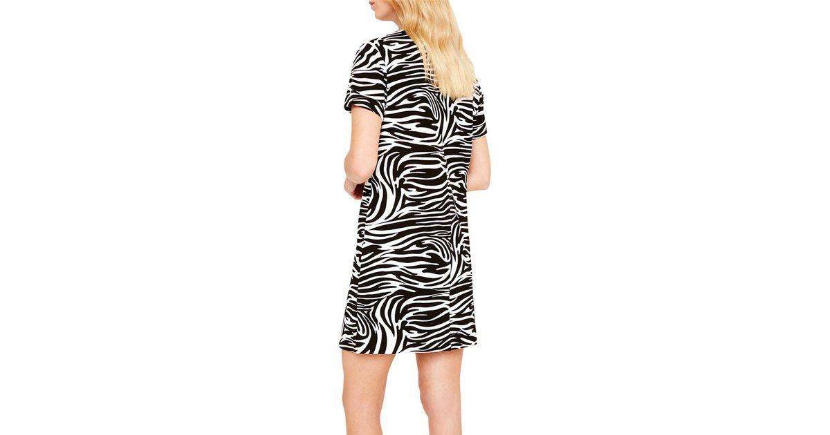 ebf1b72b813 John Lewis Damsel In A Dress Zebra Print Tunic Dress in Black - Lyst