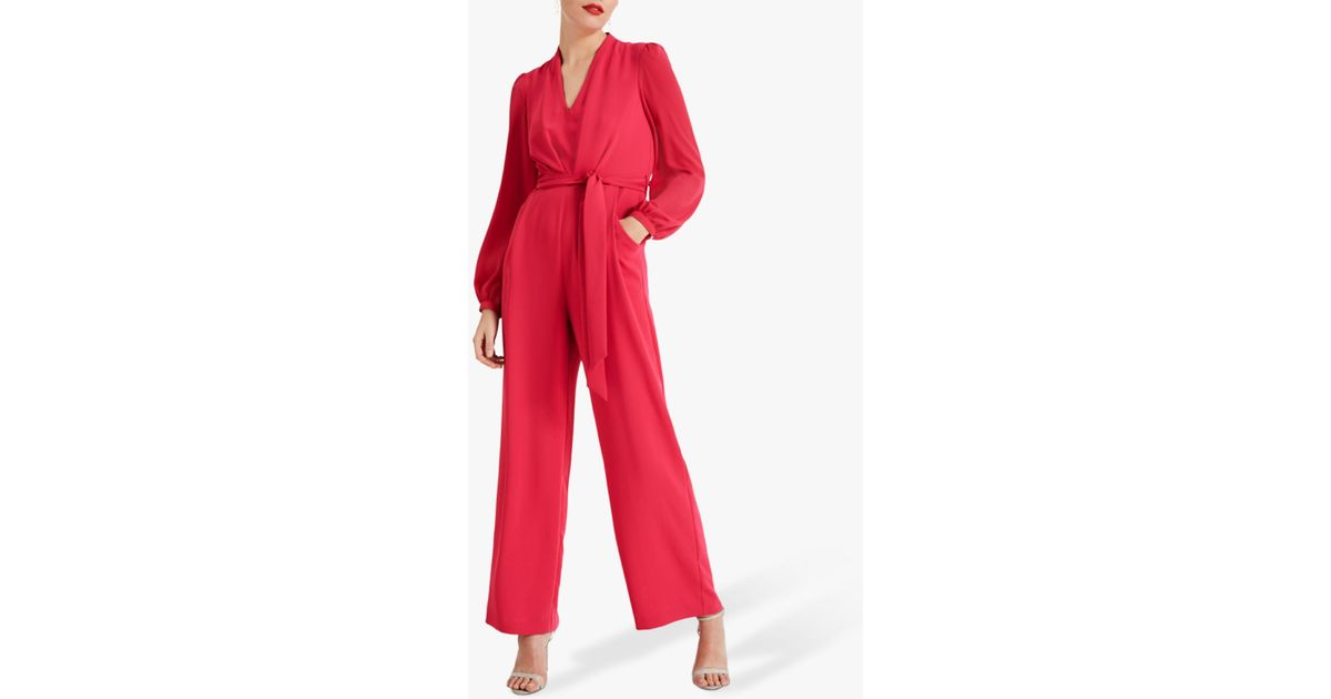 579d63b7f31 Phase Eight Audrey Tie Jumpsuit in Red - Lyst