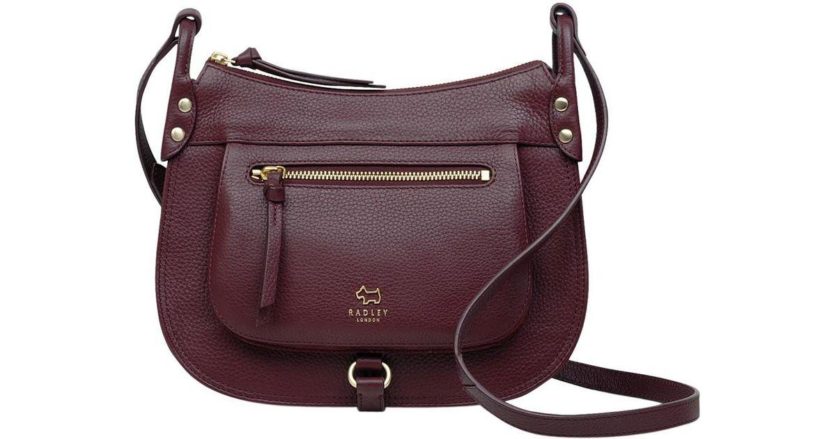 ed57a325ca5 Radley Highgate Wood Leather Medium Across Body Bag in Purple - Lyst