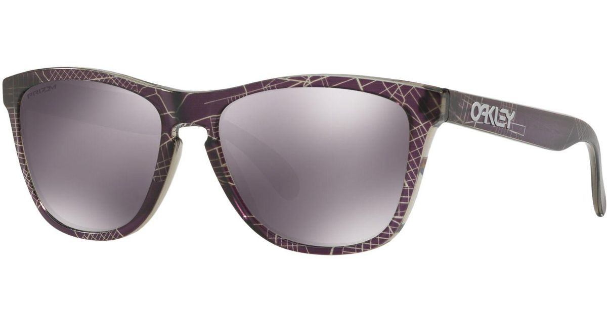 a574905d61 Oakley Oo9013 Men s Frogskins Prizm Polarised Square Sunglasses in Purple  for Men - Lyst