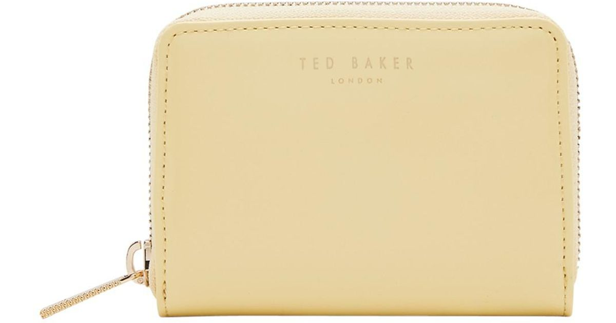 a7eb8b15c47f Ted Baker Beryl Colour Block Leather Purse in Yellow - Lyst