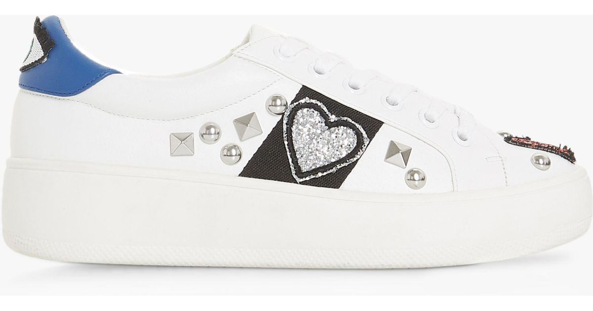 8be142184c9 Steve Madden Blastoff Sm Embellished Trainers in White - Lyst