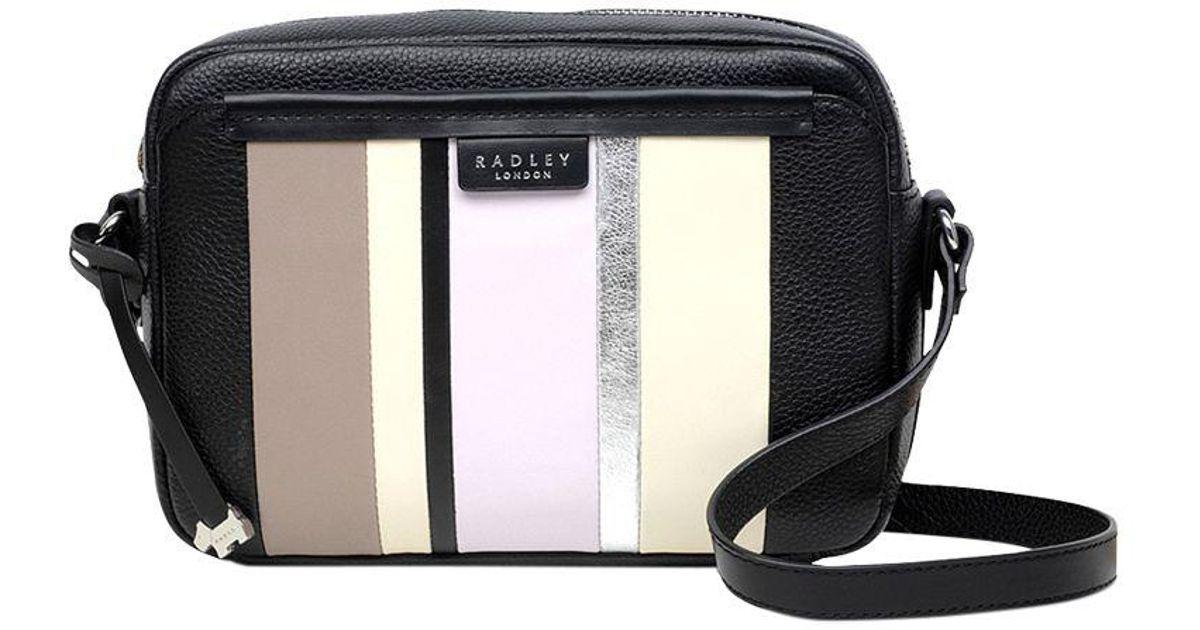cd9dff8714f0 Radley Penhurst Medium Leather Cross Body Bag in Black - Lyst
