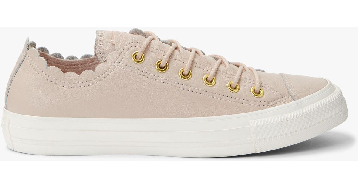 9a63bd9f02f3 Converse Women s Chuck Taylor Scalloped Trainers - Lyst