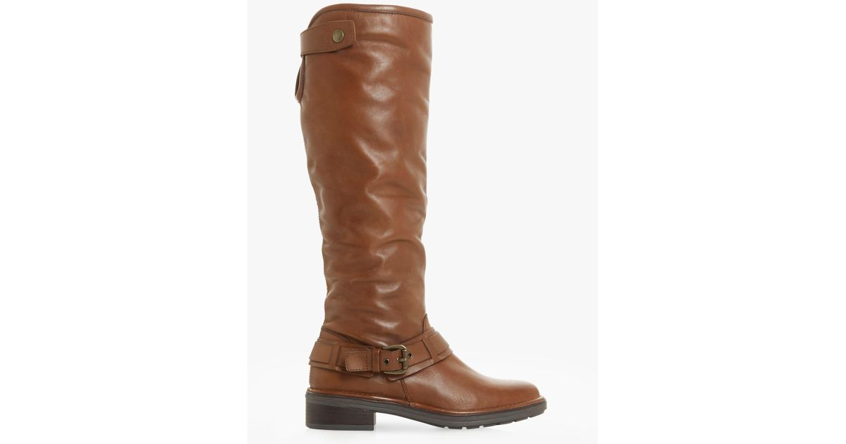 d6656d6ff28 Dune Torlie Buckle Knee Boots in Brown - Save 23% - Lyst