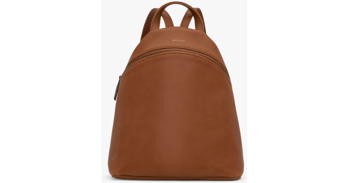 6944f8b943d7 Matt   Nat Vintage Collection Aries Vegan Backpack in Brown - Lyst