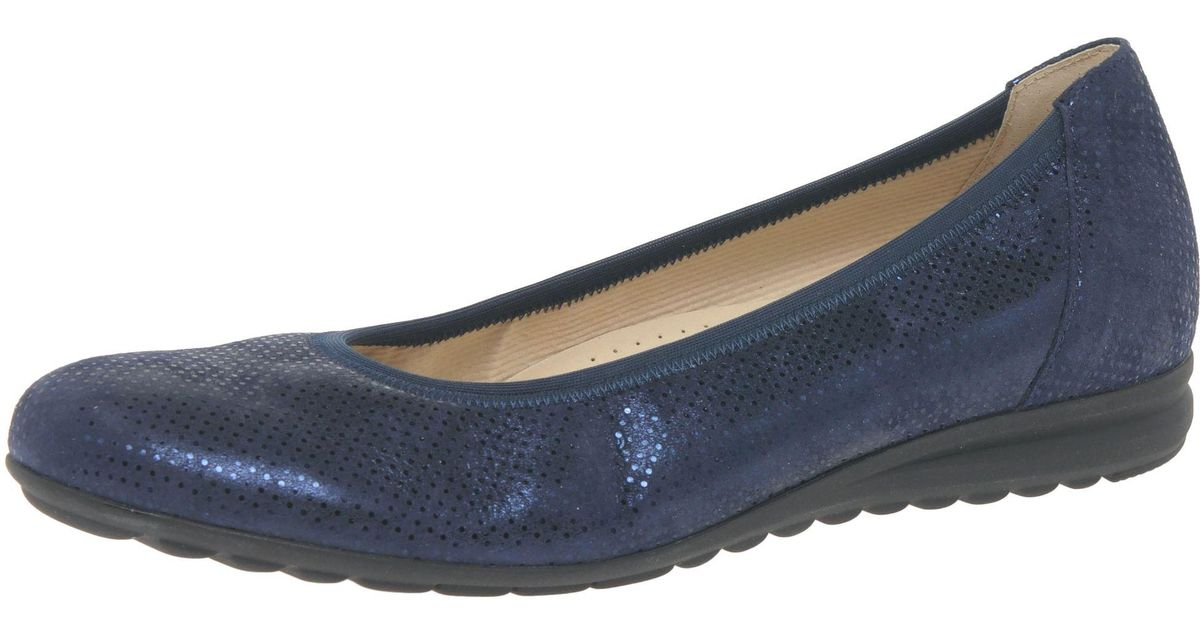 cf91403237eba John Lewis Gabor Splash Wide Fit Pumps in Blue - Lyst