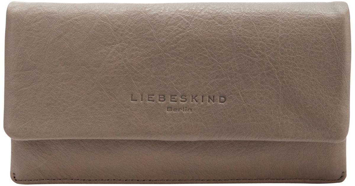 liebeskind slam 6 leather vintage wallet lyst. Black Bedroom Furniture Sets. Home Design Ideas