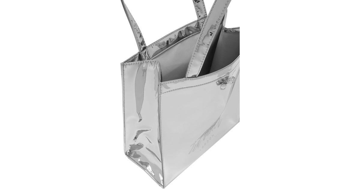 88156cee1 John Lewis Ted Baker Doracon Mirror S Icon Shopper in Metallic - Lyst