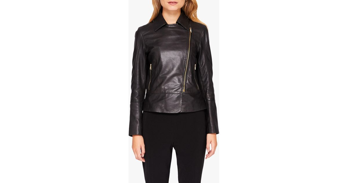 pick up Clearance sale select for official Ted Baker Purple Lizia Minimal Biker Jacket