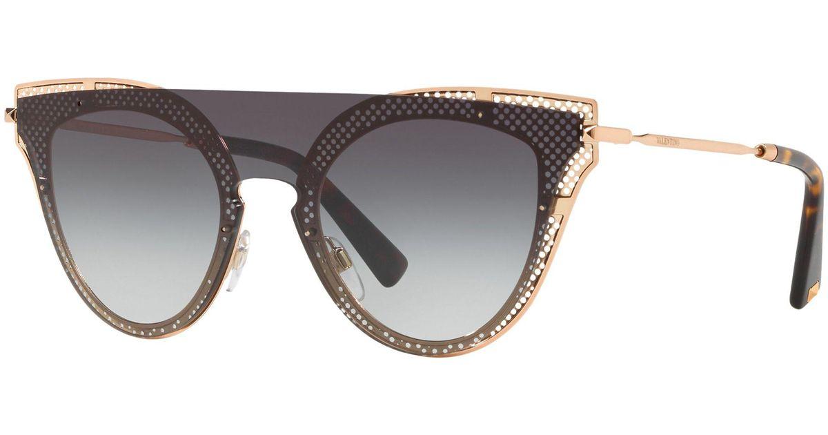a2bccac37 Valentino Va2020 Women's Cat's Eye Sunglasses in Gray - Lyst