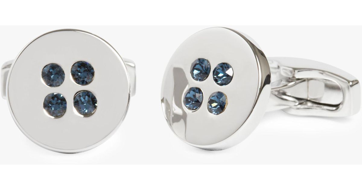 bfd0d3bdf Simon Carter Swarovski Crystal Button Cufflinks for Men - Lyst
