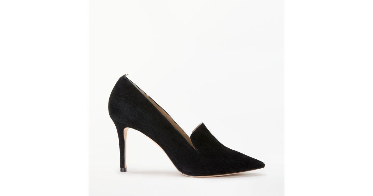 1b6f46f26cc Boden Millie Suede Slipper Stiletto Heel Shoes in Black - Lyst