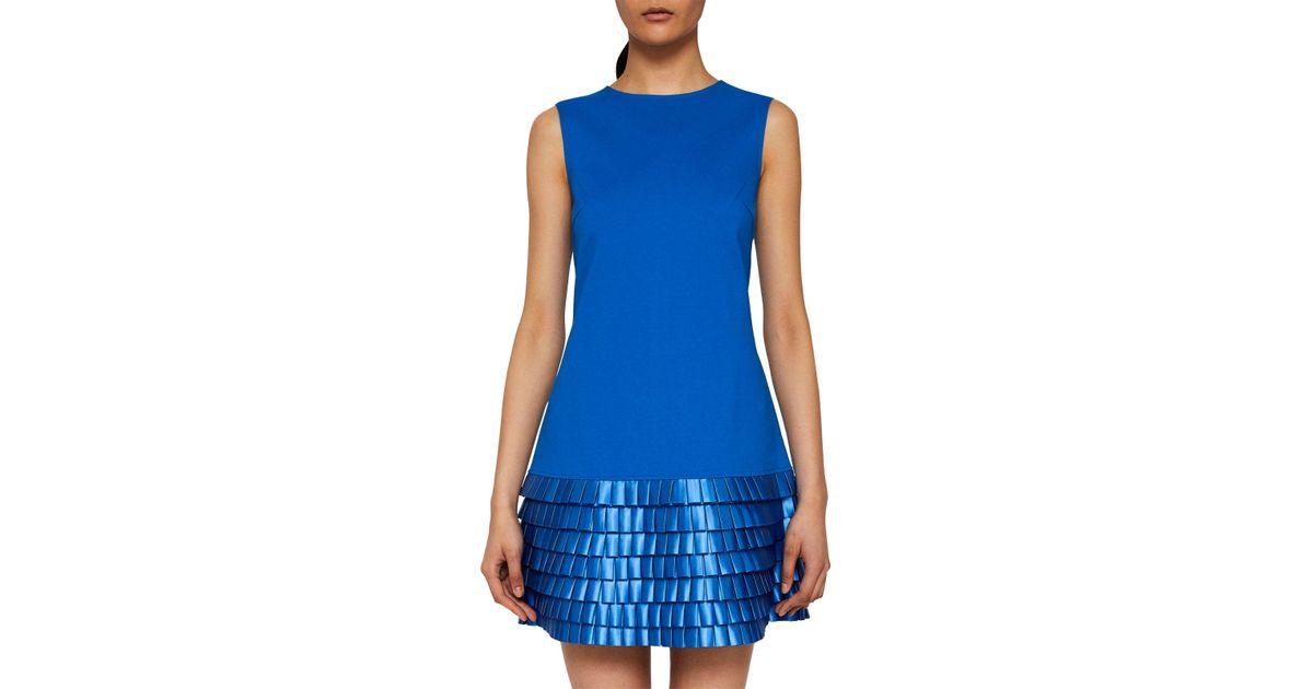 cb4cb12541 Ted Baker Satin Loop Shift Dress in Blue - Lyst