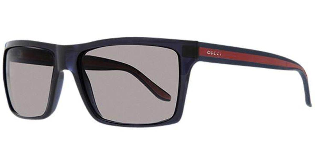 788ff2c3da242 Gucci Gg1013 s Square Plastic Frame Sunglasses in Blue for Men - Lyst