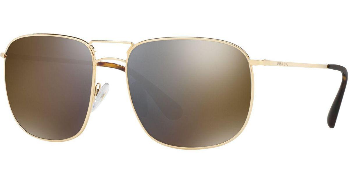 91f9ab23ac2ff Prada Pr 52ts Square Sunglasses for Men - Lyst