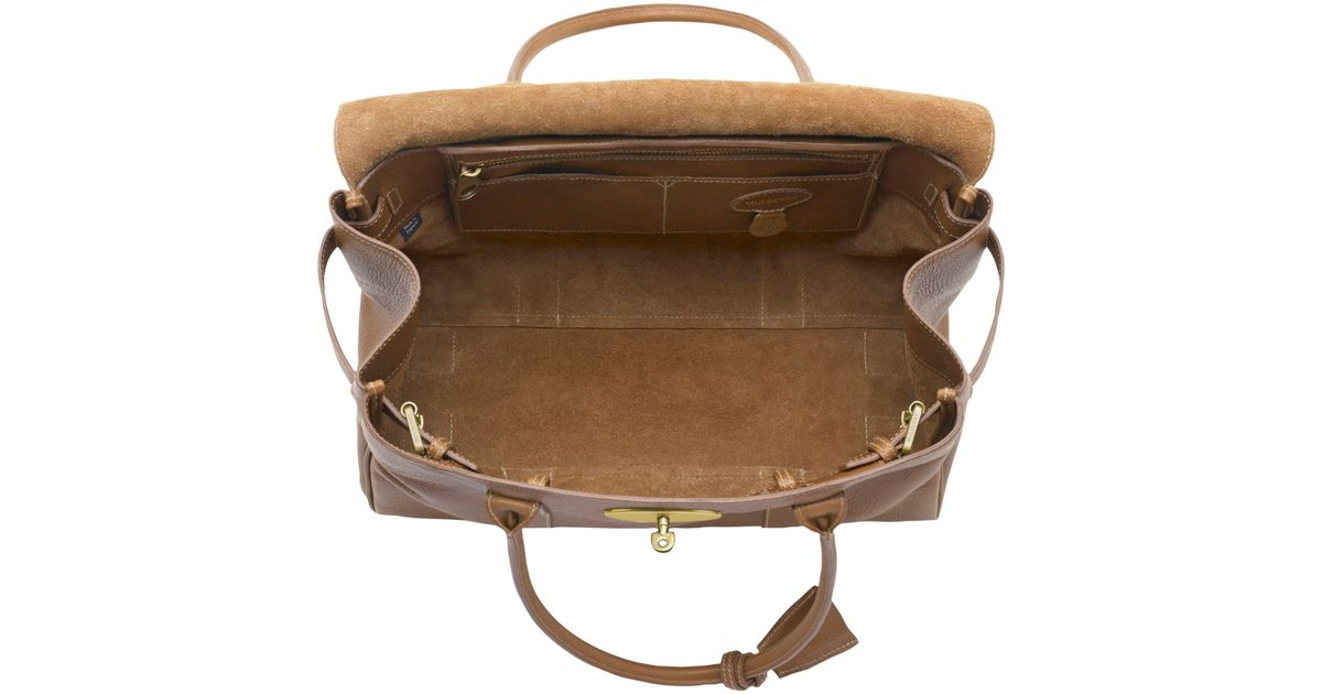 ... shop john lewis mulberry bayswater natural veg tanned leather grab bag  in brown lyst 24395 b772c 6605bb8db4396