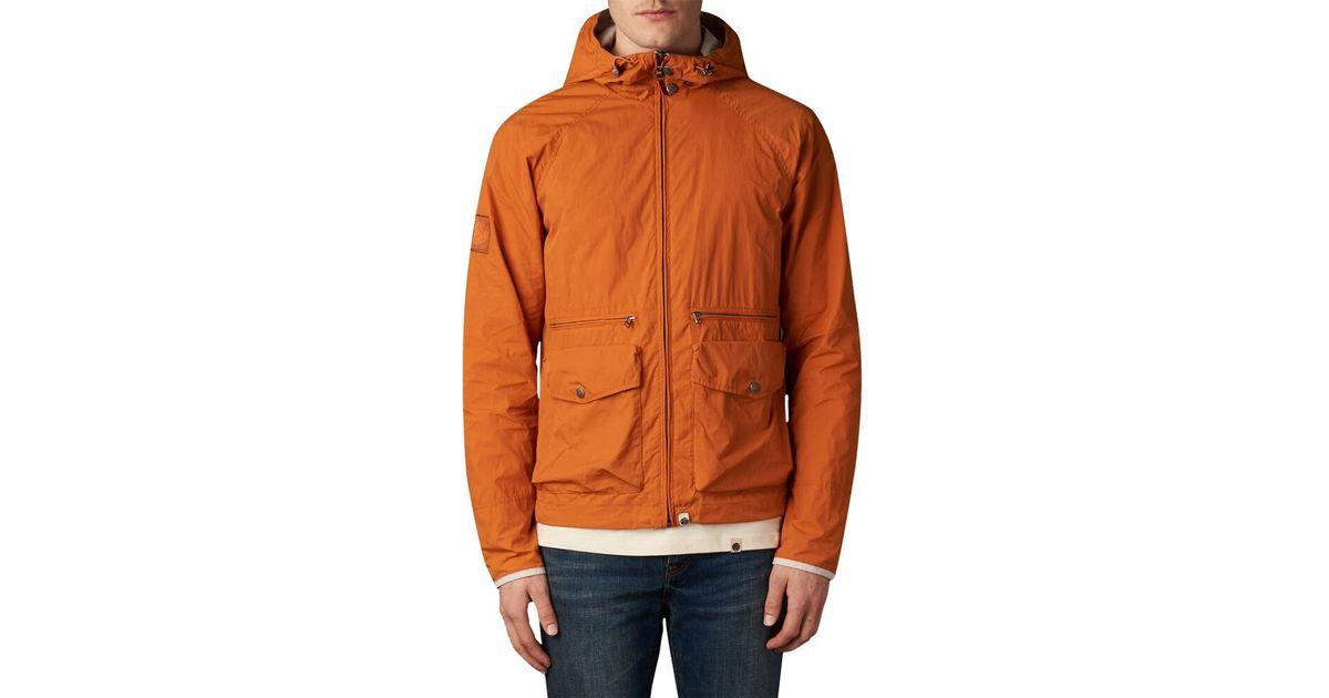 4f5633f753f Pretty Green Huntley Waxed Jacket in Orange for Men - Lyst