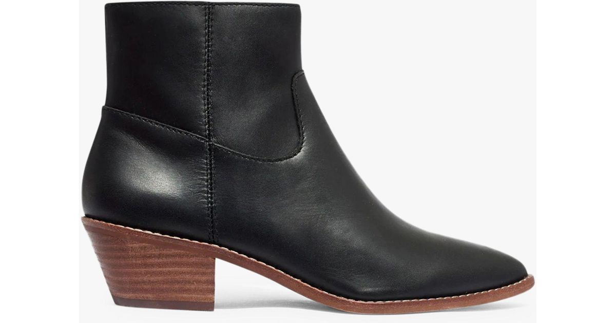 296e5f5fab00 Madewell Charley Leather Pointed Ankle Boots in Black - Save 20% - Lyst