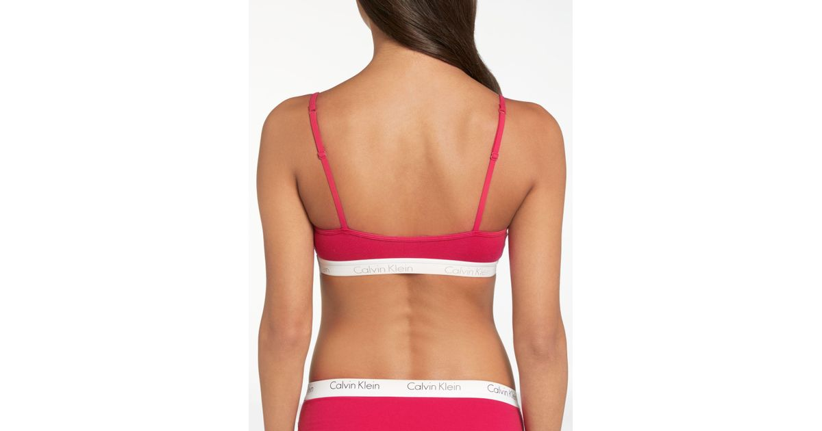 7dcbcfbbf4 John Lewis Calvin Klein Underwear Ck One Cotton Bralette - Lyst