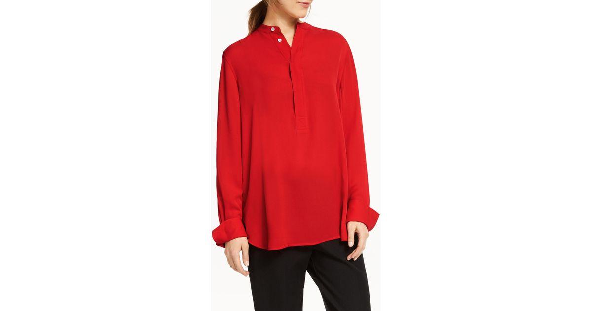 d4c58d758c6 Ralph Lauren Polo Desra Silk Shirt in Red - Lyst