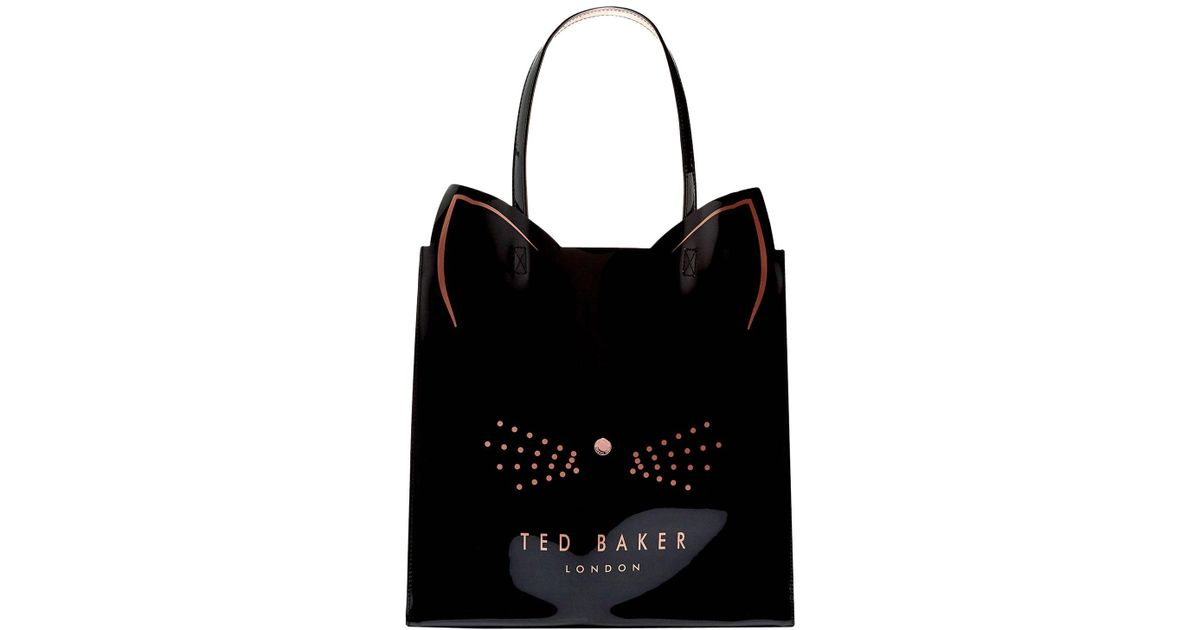 48d0db3567 Ted Baker Cat Large Icon Bag in Black - Lyst