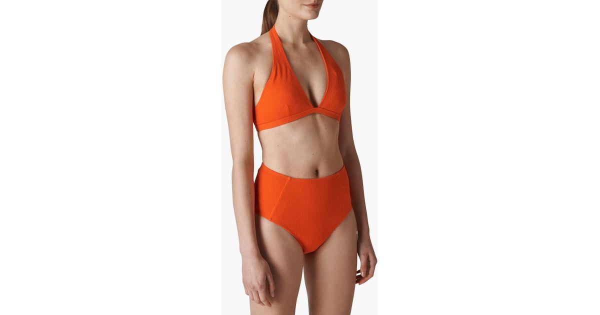 57691666390 Whistles Klara Minimal Bikini Top in Red - Lyst