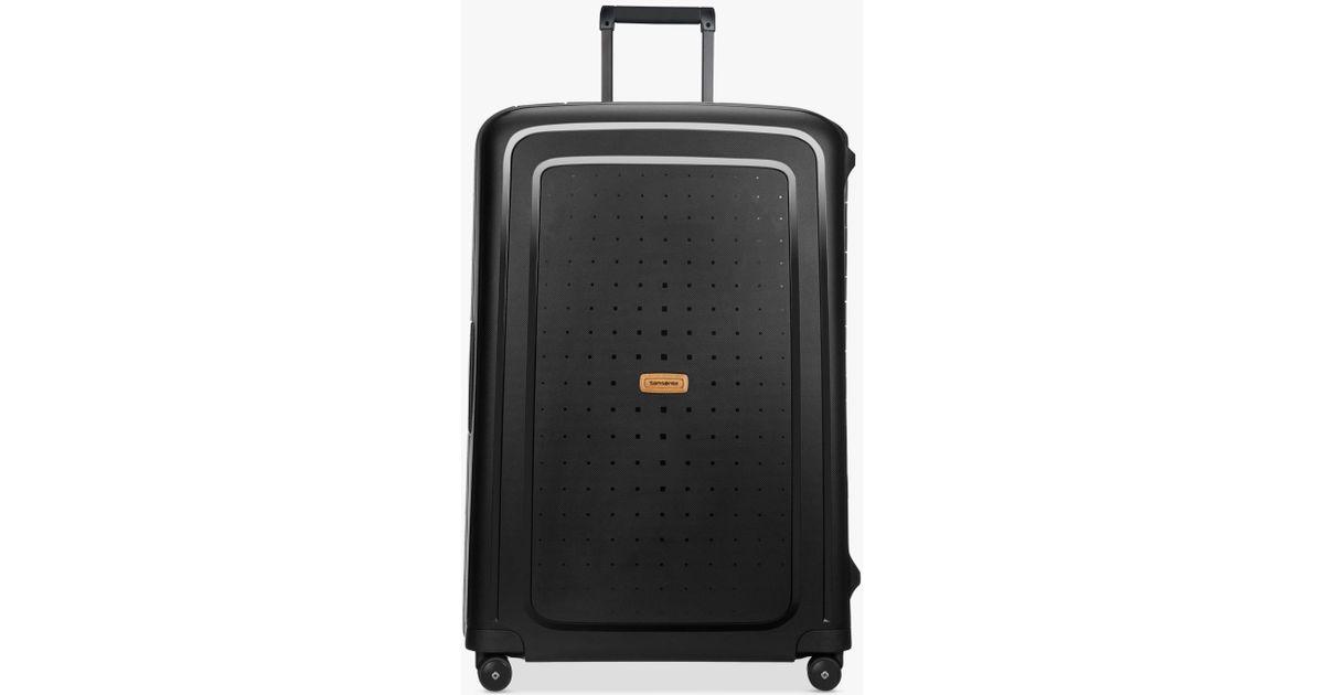 Samsonite S cure Eco 4-wheel 81cm Large Case in Black for Men - Lyst 3bfabf03f2