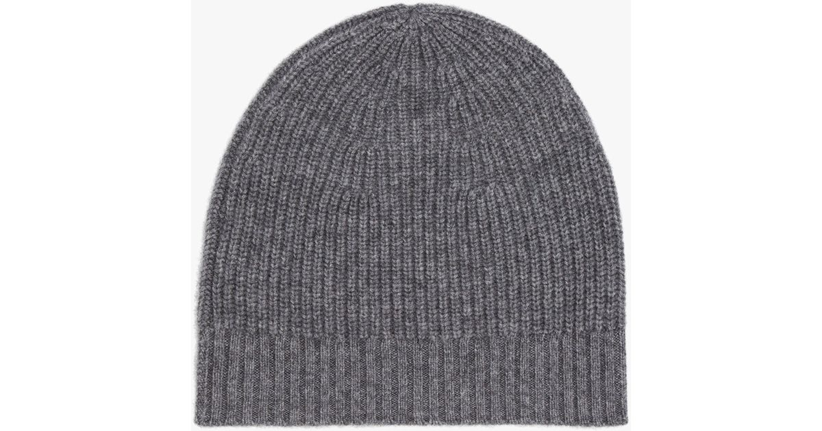 64b932a0001 Gerard Darel Iris Cashmere Beanie Hat in Gray - Lyst