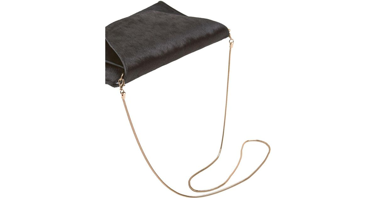 5e94fa127d8ad John Lewis Mint Velvet Millie Suede Clutch Bag in Black - Lyst