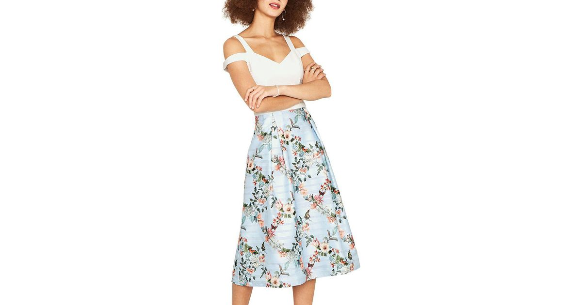 856797616ee Oasis Fitzwilliam Organza Midi Dress in Blue - Lyst