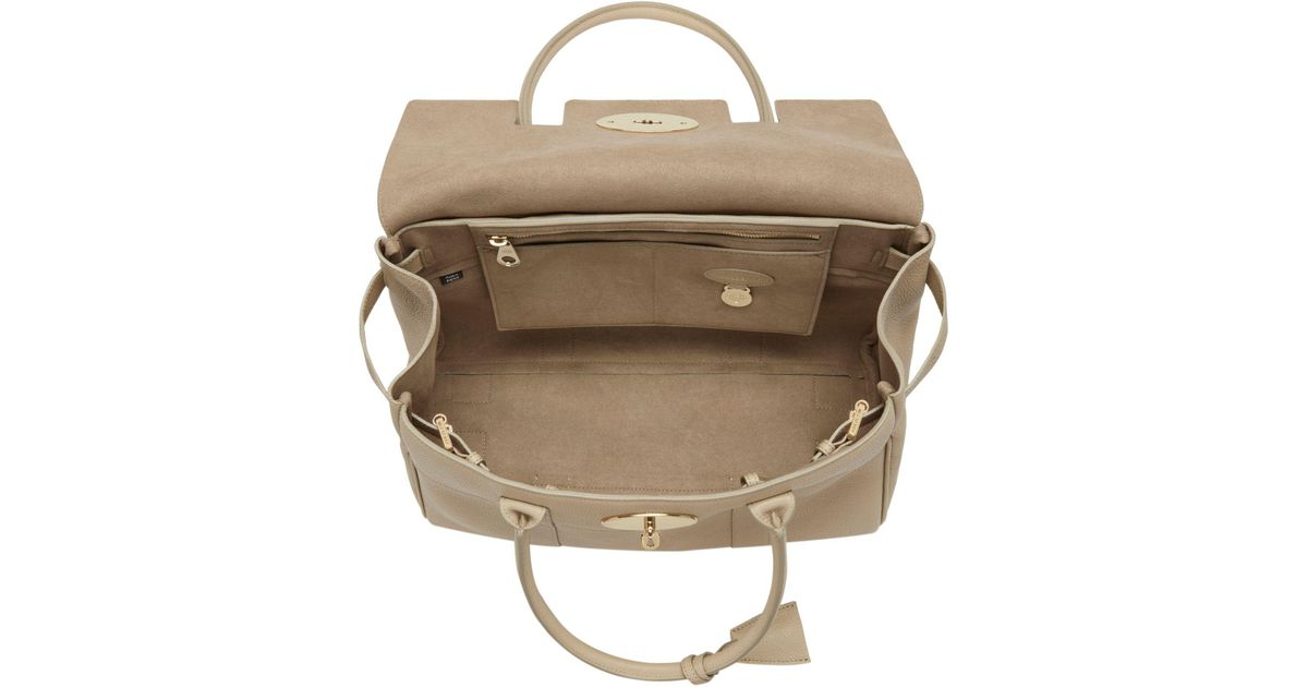 ... greece john lewis mulberry bayswater small classic grain leather grab  bag lyst 2ee2e bd87e e52b05784d711