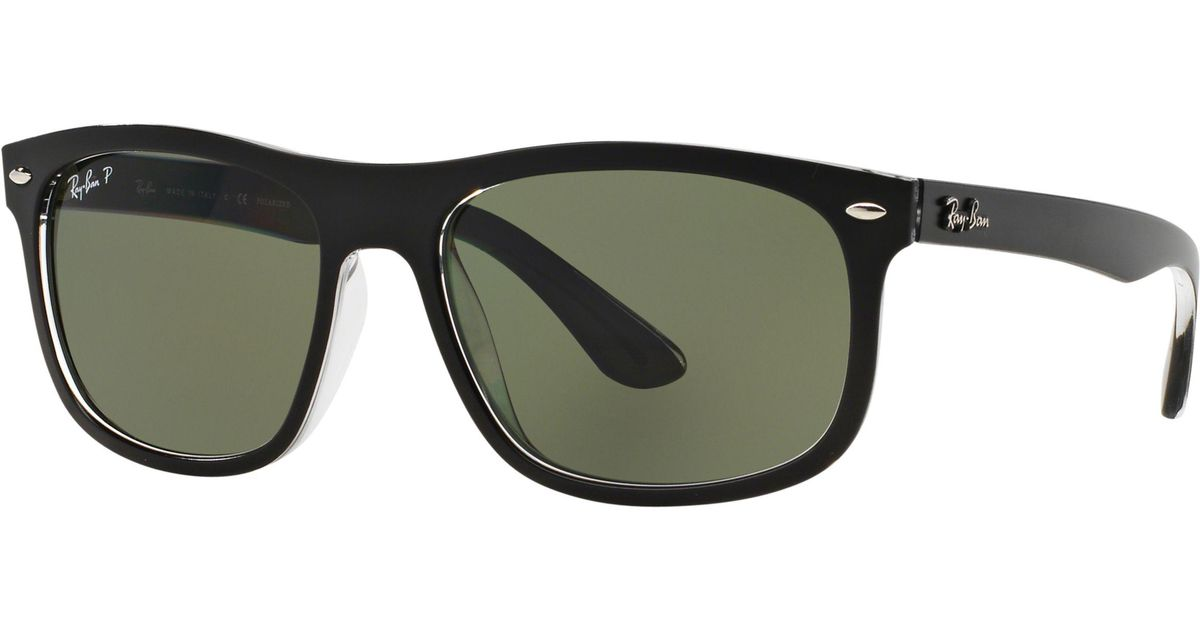 035fecdccd Ray-Ban Rb4226 Polarised Framed Sunglasses in Black for Men - Lyst