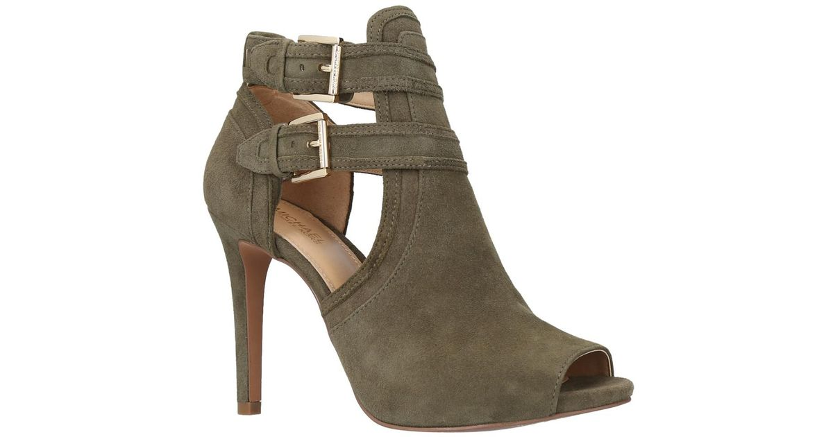 2e1ee8dd1363 Michael Michael Kors Blaze Peep Toe Ankle Boots - Lyst