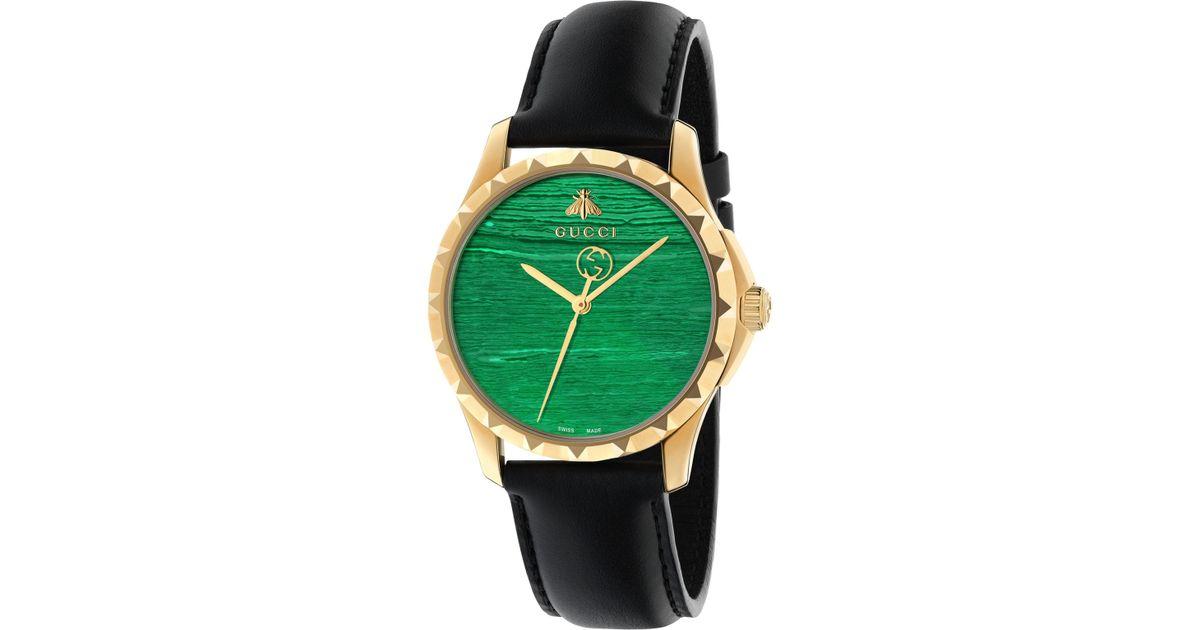 e721e4aea24 Gucci Ya126463 Unisex Le Marché Des Merveilles Leather Strap Watch for Men  - Lyst