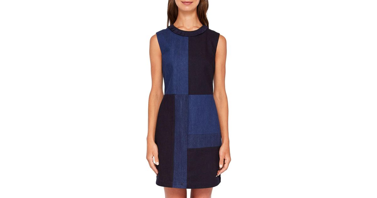 8e6e1b73973 Ted Baker Colour By Numbers Morfee Denim Dress in Blue - Lyst
