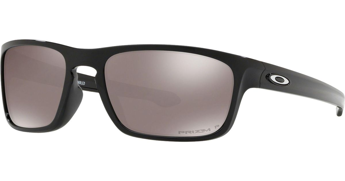 3d1194c437 Oakley Oo9408 Sliver Stealth Men s Polarised Sunglasses in Black for Men -  Lyst