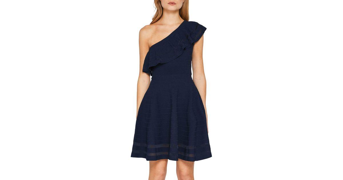 3ca4e6c60de6 Ted Baker Streena One Shoulder Knitted Dress in Blue - Lyst