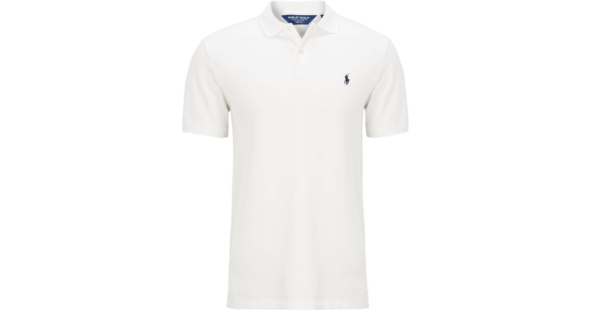bc978488c Ralph Lauren Polo Golf By Pro-fit Polo Shirt in White for Men - Lyst