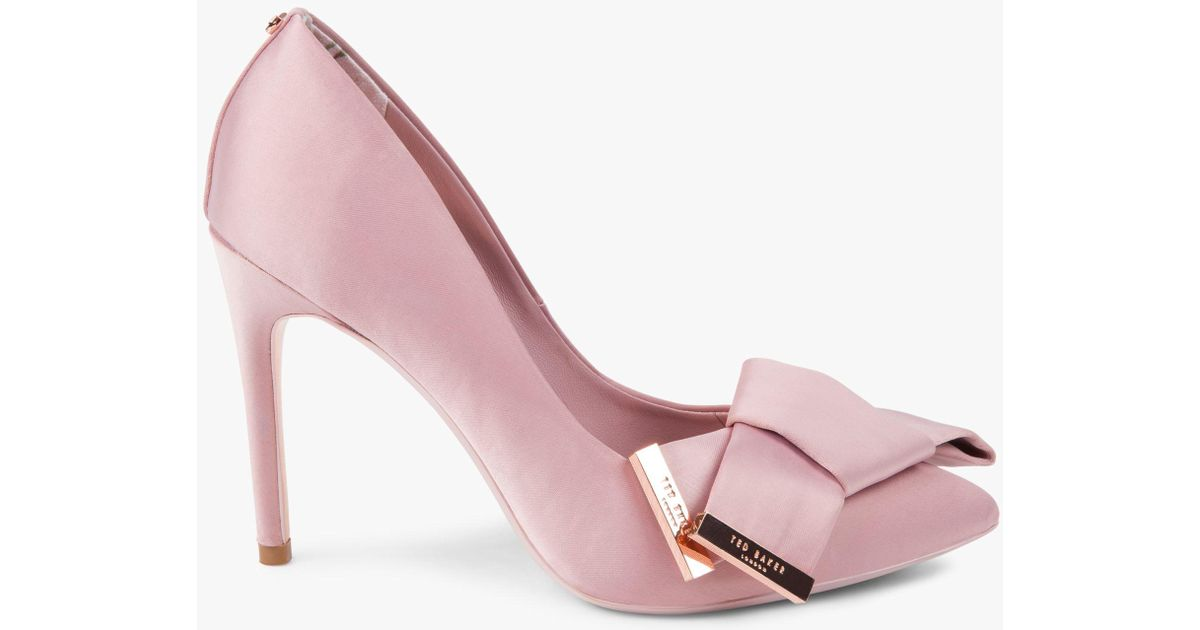 0b6fd0aed80 Ted Baker Ines Stiletto Heel Bow Detail Court Shoes in Pink - Lyst