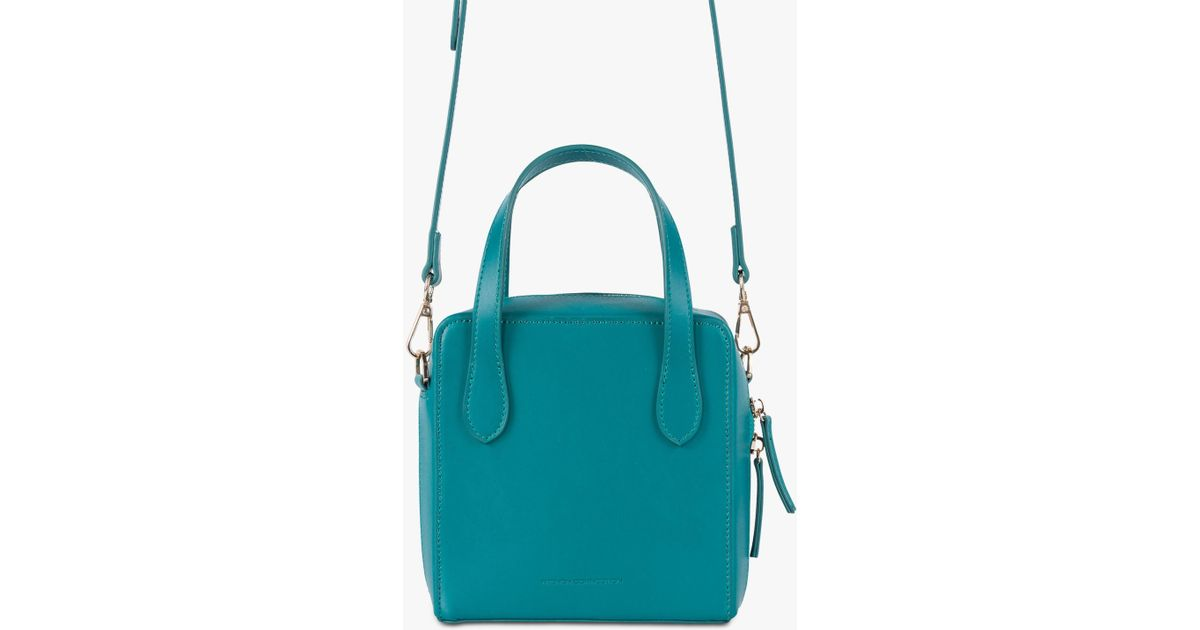 c1ec55e5c French Connection Lula Recycled Leather Cross Body Bag in Blue - Lyst