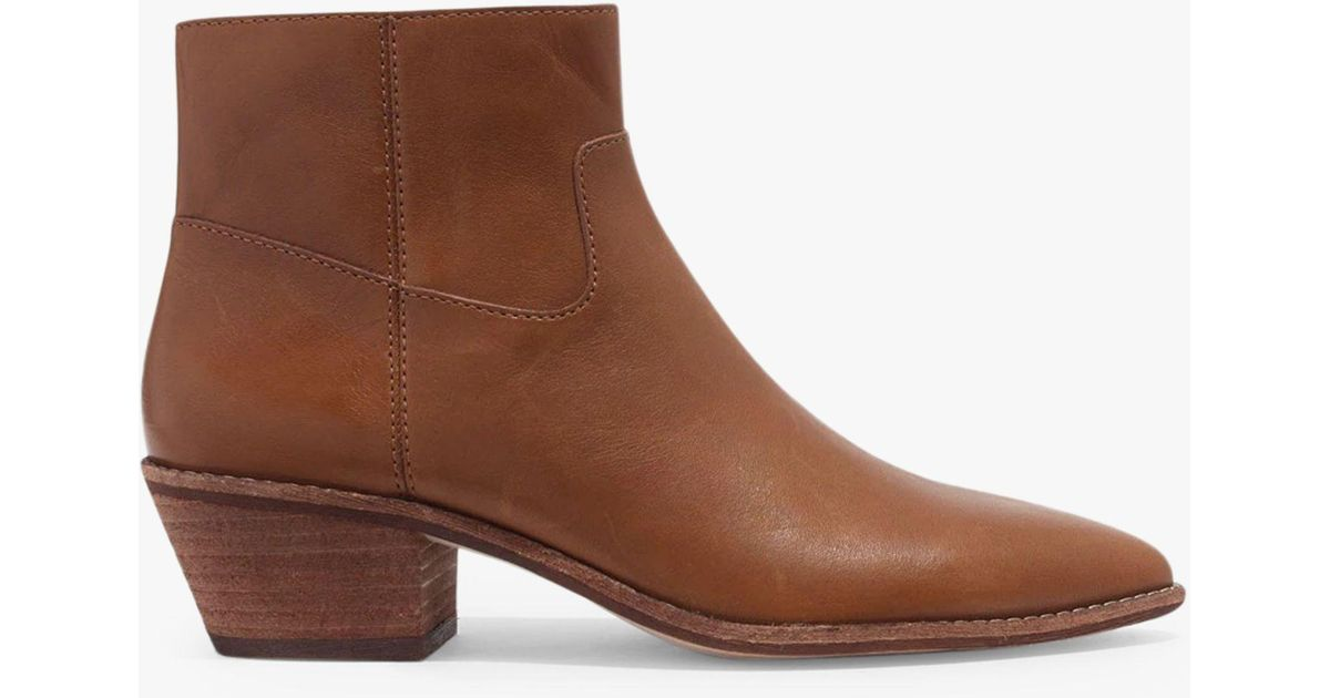 c20d76330265 Madewell Charley Leather Pointed Ankle Boots in Brown - Save 20% - Lyst