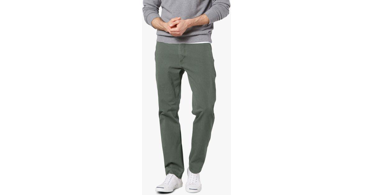 23e0f80db90b53 Dockers Alpha Khaki Smart 360 Flex Slim Tapered Trousers in Green for Men -  Lyst