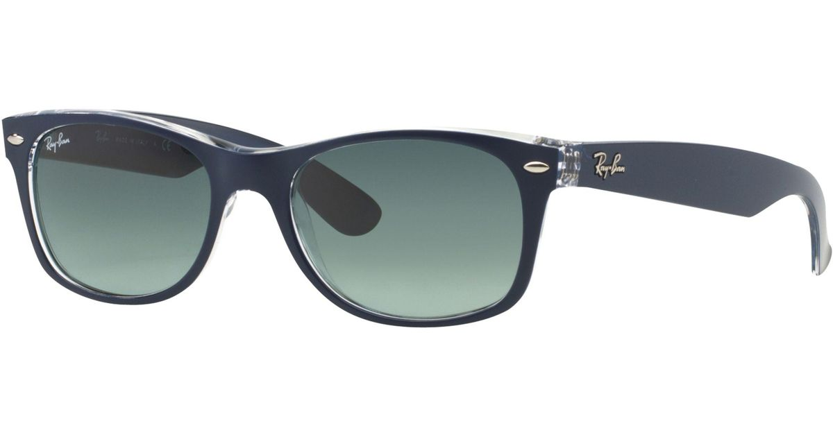 7444ab94ce Ray-Ban Rb2132 New Wayfarer Colour Mix Sunglasses in Blue for Men - Lyst