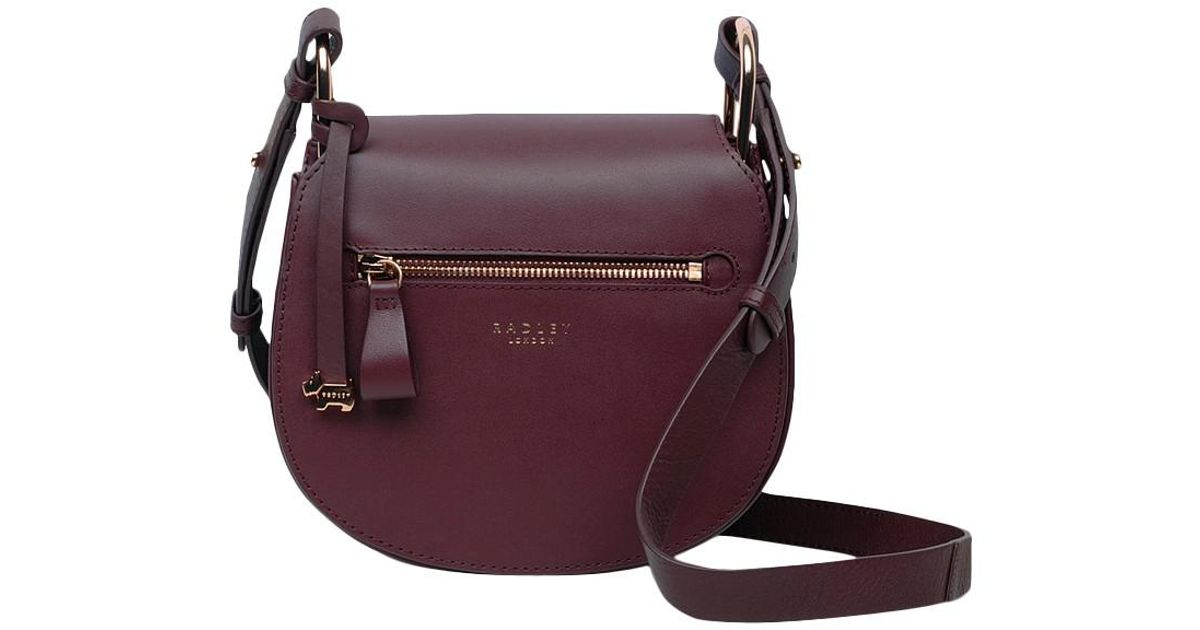 Radley Camley Street Leather Flapover Cross Body Bag in Red - Lyst d9fc56f44c